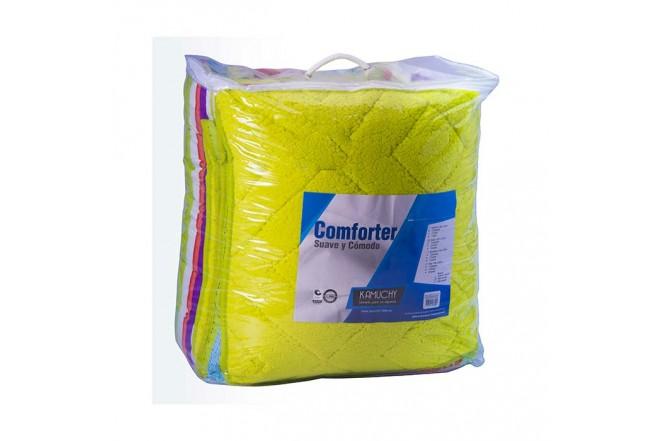 Comforter Estampado KAMUCHY Sencillo Ovejero Pistacho