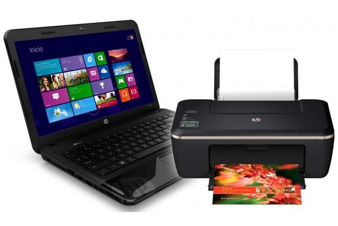 Notebook HP 1000 - 1220 + Multifuncional