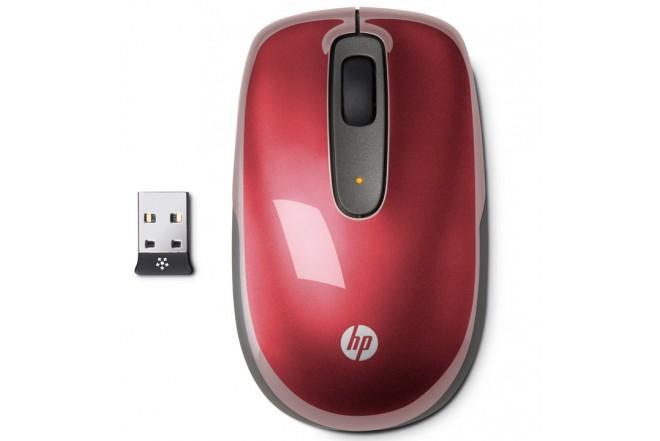 Mouse Inalámbrico HP Rojo