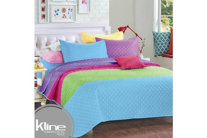 Cubrecama K-LINE Sencillo Rayas Multicolor