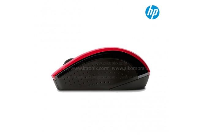 Mouse HP Inalámbrico Óptico X3000 Rojo