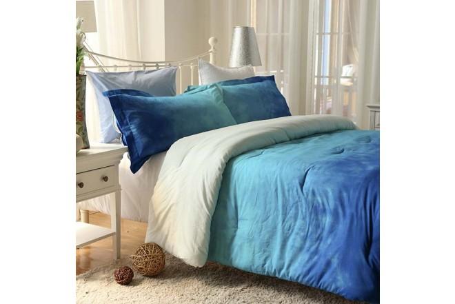 Comforter K-LINE Sencillo Tie Die Azul Algodón 100%