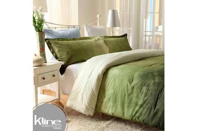 Conforter K-LINE Doble Tie Die Verde Algodón 100%