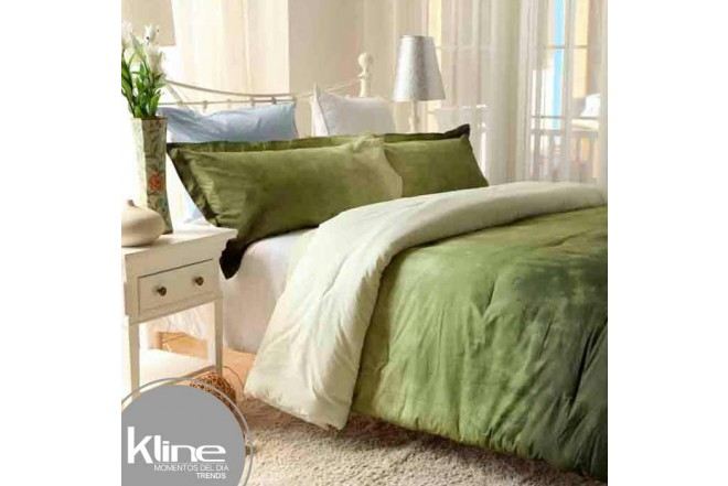 Conforter K-LINE Sencillo Tie Die Verde Algodón 100%