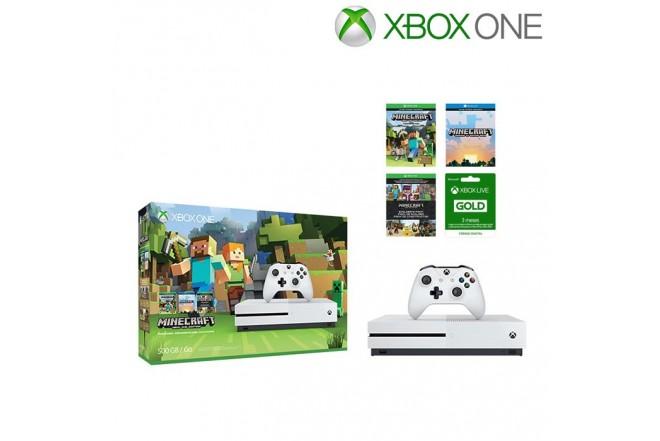 XBOX ONE S 500GB + 1 Control +  Minecraft Favorites + XBOX LIVE 3 meses-1