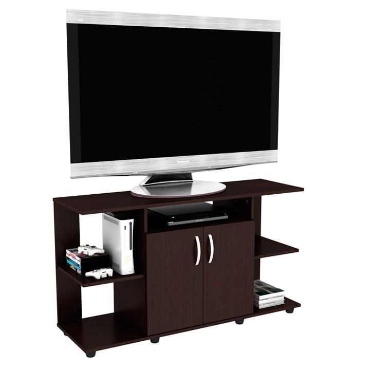 Mesa tv practimac sof a wengue 2 puertas alkosto tienda online for Mesas de televisor modernas