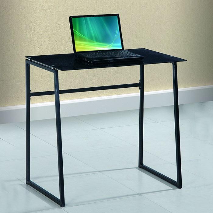 Mesa escritorio vidrio negra alkosto tienda online for Escritorio de vidrio