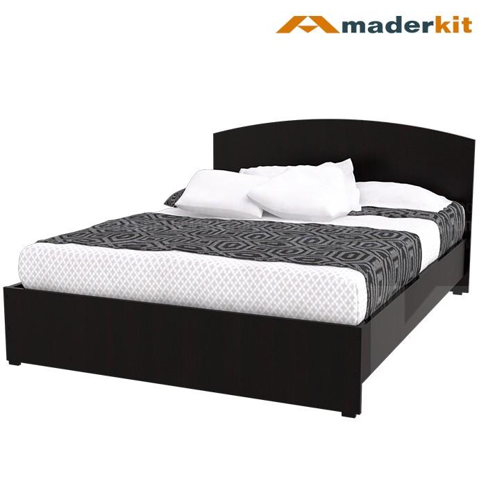 Kombo maderkit cama doble 2 mesas de noche 00782 for Cama semidoble