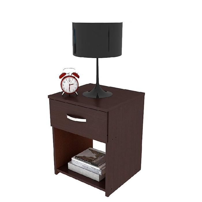 Mesa de noche practimac arual wengue alkosto tienda online for Mesas de noche plateadas