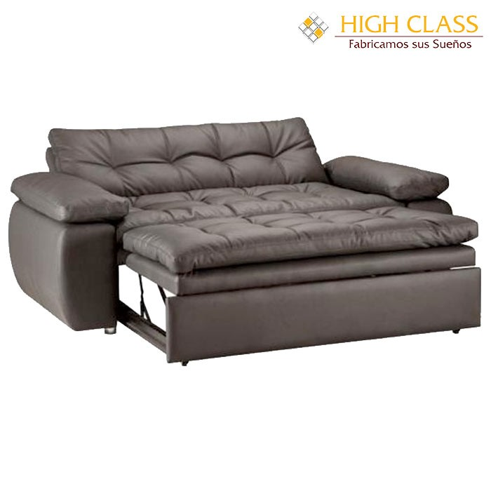 Sof cama high class car yoga chocolate alkosto tienda online for Sofa cama sin colchon