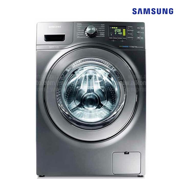 Lavadora secadora samsung 25lb wd116uhsa gris alkosto - Mueble para lavadora y secadora ...