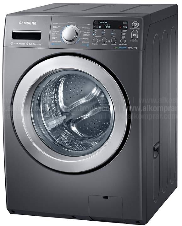 Lavadora secadora samsung 15kg wd15f5k5asg alkosto tienda online - Soporte secadora sobre lavadora ...