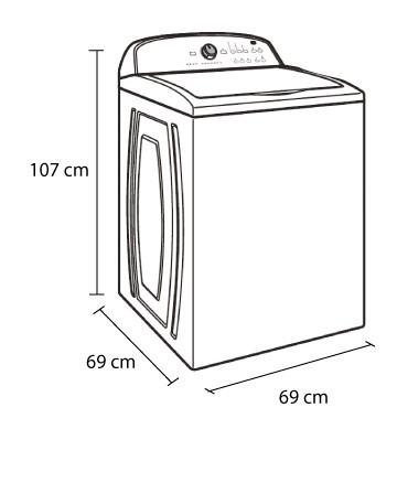 Lavadora whirlpool 22kg 7mwtw5622bw alkosto tienda online for Medidas de lavadoras