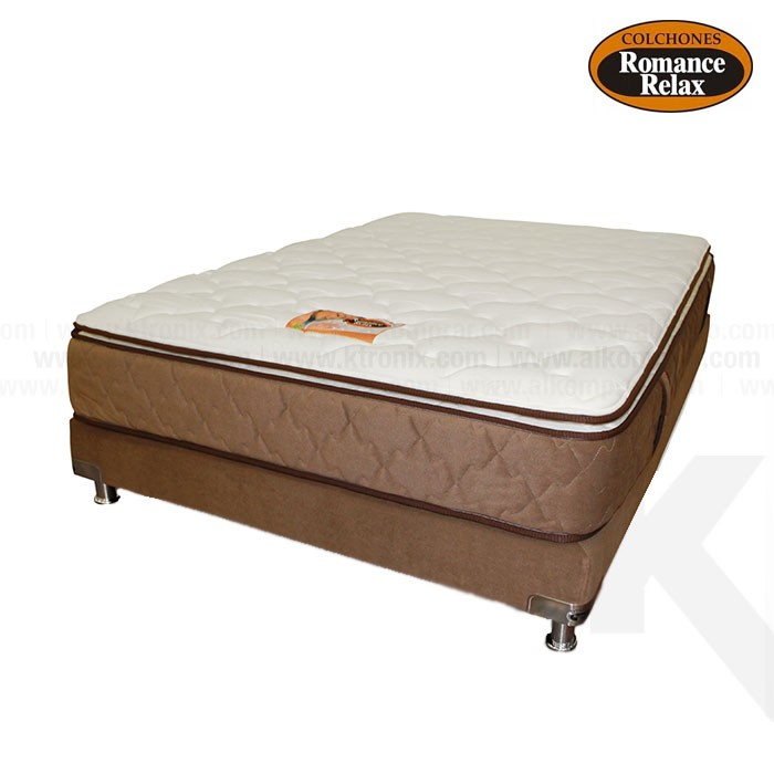 Kombo base cama colchon de espuma coral semidoble for Cama individual base y colchon