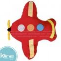 Cojín K-LINE infantil Avión Rojo