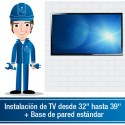 """Instalación de TV desde 32"""" hasta 39""""Incluye Base Fija"""