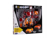 Robot transformer Nissan doble Happy well Naranja