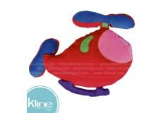 Cojín K-LINE infantil Helicoptero Rojo