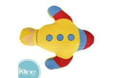 Cojín K-LINE infantil Cohete Amarillo