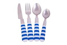 Juego de Cubiertos FREE HOME 16 Piezas 9812D Líneas Azul