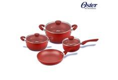 Juego de Ollas OSTER 7 Piezas Color Rojo OS-20000