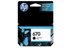 Cartucho HP 670 Negro Ink