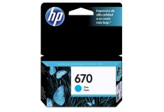 Cartucho HP 670 Cian Ink