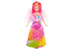 BARBIE Reino de Arcoiris Princesa luces brillantes