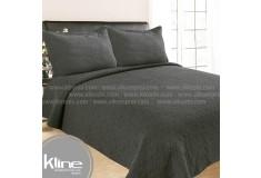 Cubrecama K-LINE Doble Lavare Gris Algodón 100%
