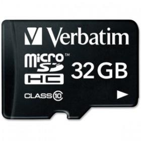 Memoria Micro SD VERBATIM + Adaptador 32GB Class10