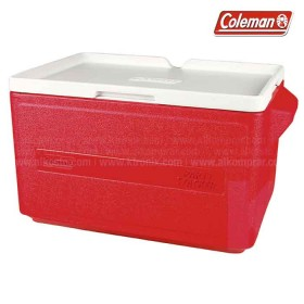 Hielera roja COLEMAN de 48 latas