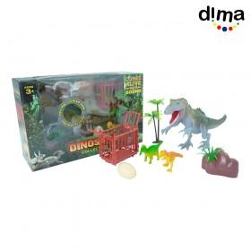Set de juego dinosaurios con luces y sonidos