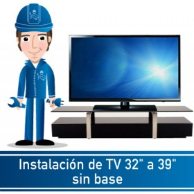"Instalación de TV 32"" a 39"" sin base"