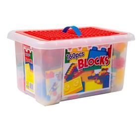 KYDOS Balde de bloques 160 piezas de colores