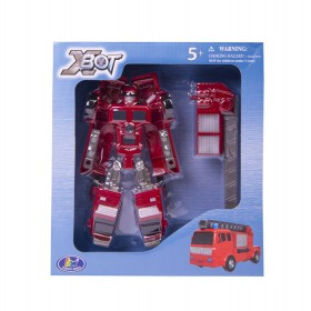 Juguete Robot transformer camión bombero Happy Well Rojo