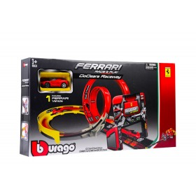 Pista Ferrari Bburago race and play Go Gear roja