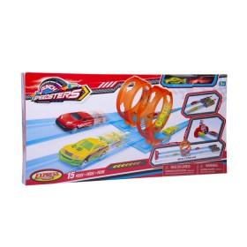 Pista de lanzamiento doble loop Express Wheels azul y rojo