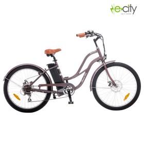 Bicicleta Electrica e-city Classic Cruiser Gris Cobrizo