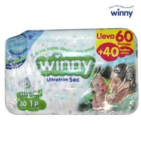 Pañal WINNY Sec Etapa 1 Caja 60 + Toallitas húmedas