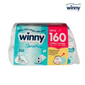 Toallitas WINNY Sensitive 2 Cajas x 80 unid.