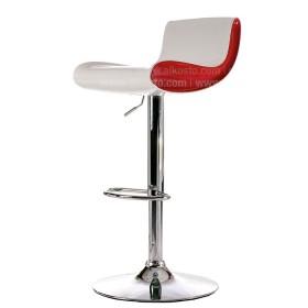 Silla de Bar Blanca/Roja WY-179