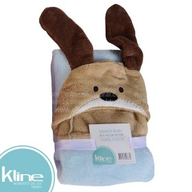 Manta Baby K-LINE Perrito Flannel 75x100 cms 300 grms