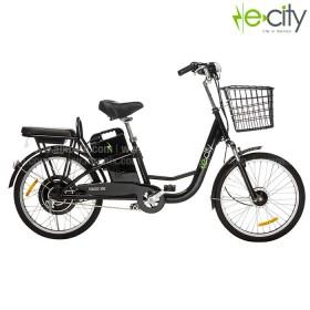 Bicicleta Electrica e-city Negra 350W PT