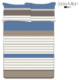 Juego de cama Doble JACKY MILAN Peter Azul 180 Hilos