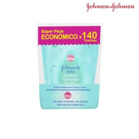 Toallitas Húmedas JOHNSONS Baby Aloe x 140 unid.