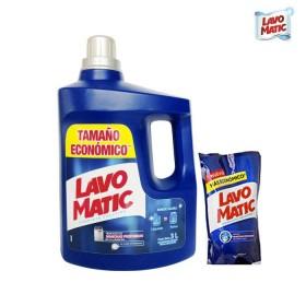 Detergente Líquido LAVOMATIC Floral 3L+1.8L