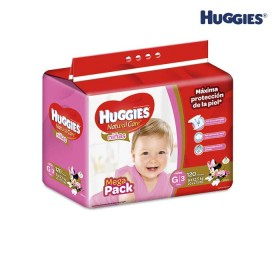 Pañales HUGGIES Natural Care Niña G x 120 Und.