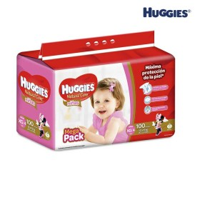 Pañales HUGGIES Natural Care Niña XG x 100 Und.