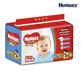 Pañales HUGGIES Natural Care Niño XG x 100 Und.