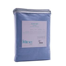Duvet K-LINE Sencillo Sesgo Azul 144 hilos